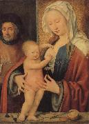 Joos van cleve Holy Family painting