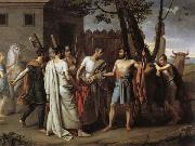 Juan Antonio Ribera Y Fernandez Cincinnatus Leaving the Plough to Bring Law to Rome oil