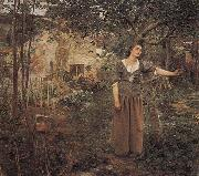 Jules Bastien-Lepage Jeanne d Arc ecoutant les voix oil on canvas
