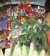 Lentulov, Aristarkh St. Basil's Cathedral oil on canvas