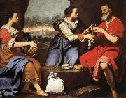 Lorenzo Lippi Lot and His Daughters oil painting reproduction