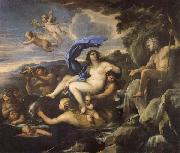 Luca Giordano he Triumph of Galatea,with Acis Transformed into a Spring oil on canvas