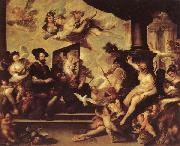 Luca Giordano Rubens Painting an Allegory of Peace oil on canvas