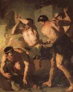 Luca Giordano Vulcan's Forge oil on canvas