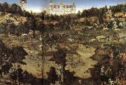 Lucas Cranach AHunt in Honor of Charles V at Torgau Castle oil on canvas