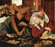 Marinus van Reymerswaele The Moneychanger and His Wife oil