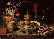 PEETERS, Clara Still life with Vase,jug,and Platter of Dried Fruit oil on canvas