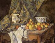 Paul Cezanne Still Life with Apples and Peaches oil painting reproduction