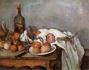 Paul Cezanne Onions and Bottle painting