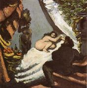 Paul Cezanne Une moderne Olympia oil painting reproduction