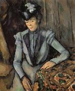 Paul Cezanne Woman in Blue oil painting reproduction