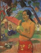Paul Gauguin Woman Holding a Fruit oil painting reproduction