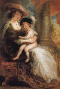 Peter Paul Rubens Helene Fourment and her Eldest Son Frans painting