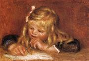 Pierre Renoir Coco Reading oil painting reproduction