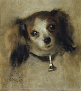Pierre-Auguste Renoir Head of a Dog painting