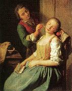 Pietro Antonio Rotari Sleeping Girl oil