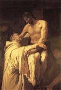 RIBALTA, Francisco Christ Embracing St.Bernard oil
