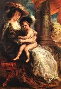 RUBENS, Pieter Pauwel Helena Fourment with her Son Francis painting