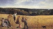 Richard Redgrave,RA The Valleys also stand Thick with Corn:Psalm LXV oil