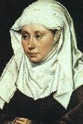 Robert Campin Portrait of a Lady oil on canvas