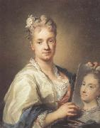 Rosalba carriera Self-portrait with a Portrait of Her Sister oil