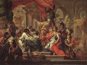 Sebastiano Conca Alexander the Great in the Temple at Jerusalem oil on canvas