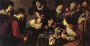 Theodoor Rombouts The Tooth-puller oil