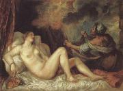 Titian Danae oil painting reproduction