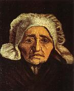 Vincent Van Gogh Head of an old peasant Woman with White Cap (nn04) painting