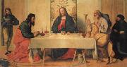 Vincenzo Catena The Supper at Emmaus oil on canvas