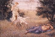 Walter Crane Diana and Endymion oil on canvas