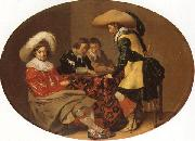 Willem Cornelisz Duyster Officers Playing Backgammon oil on canvas