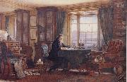 William Gershom Collingwood John Ruskin in his Study at Brantwood Cumbria oil on canvas