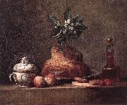 jean-Baptiste-Simeon Chardin La Brioche oil painting reproduction