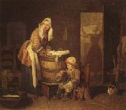 jean-Baptiste-Simeon Chardin The Washerwoman oil on canvas