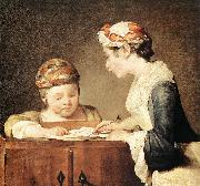 jean-Baptiste-Simeon Chardin The Young Schoolmistress oil painting reproduction
