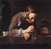 jean-Baptiste-Simeon Chardin The Soap Bubble oil on canvas