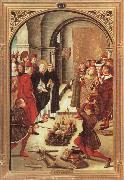 BERRUGUETE, Pedro Scenes from the Life of Saint Dominic:The Burning of the Books oil painting reproduction