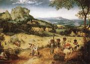 BRUEGEL, Pieter the Elder Haymaking painting