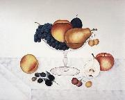 Cady Emma Jane Fruit in a Glass Compote oil on canvas