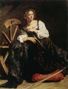 Caravaggio Saint Catherine oil painting reproduction