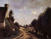 Corot Camille Une Route pres d'Arras oil on canvas