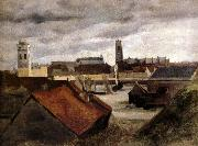 Corot Camille Dunkerque,les bassins de peche oil on canvas