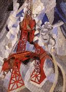 Delaunay, Robert Eiffel Tower or the Red Tower oil
