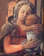 Fra Filippo Lippi Details of Madonna and Child Enthroned oil painting reproduction
