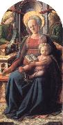 Fra Filippo Lippi Madonna and Child Enthroned with Two Angels oil on canvas