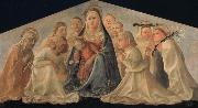 Fra Filippo Lippi Madonna of Humility with Angels and Carmelite Saints oil on canvas