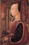 Fra Filippo Lippi Portrait of a Woman with a Man at a Casement oil on canvas