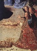 GOES, Hugo van der The Adoration of the Shepherds (detail) oil painting reproduction