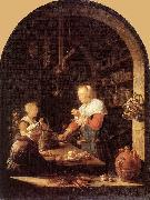 Gerrit Dou The Grocer's Shop oil painting reproduction